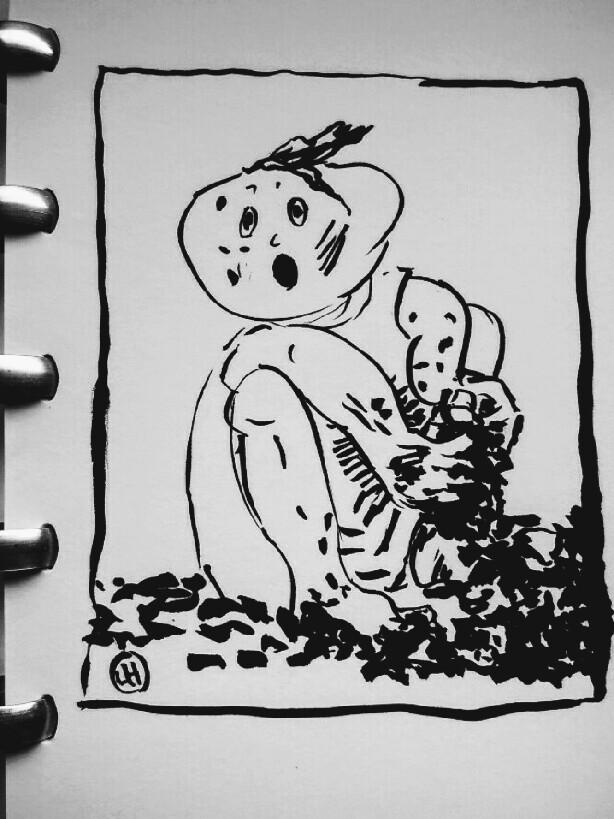cartoon of muddy child