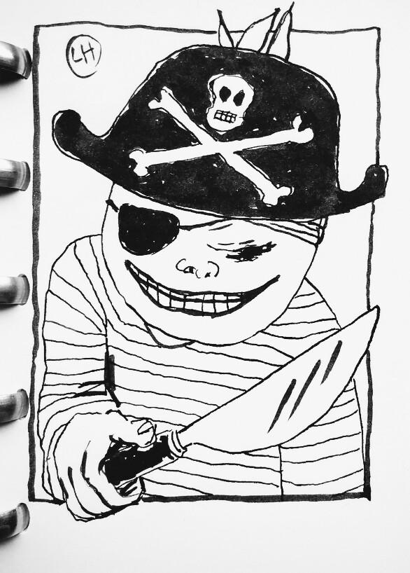 cartoon of pirate