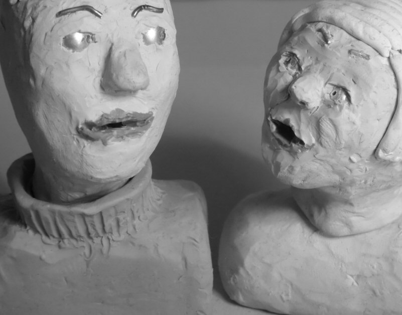 talking plasticine heads
